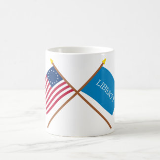 Crossed Betsy Ross and Schenectady Liberty Flags Coffee Mug