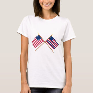 Crossed Betsy Ross and Serapis Flags T-Shirt