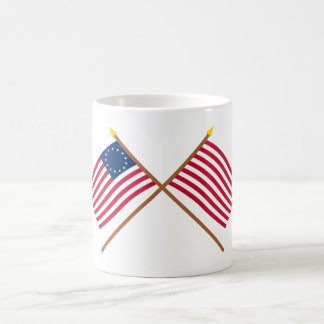 Crossed Betsy Ross and Sons of Liberty Flags Coffee Mug