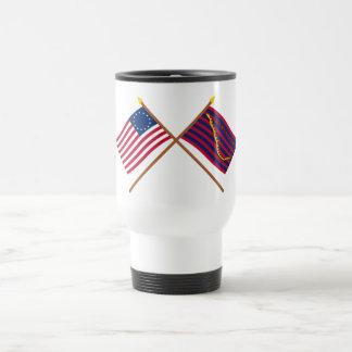 Crossed Betsy Ross and South Carolina Navy Flags Coffee Mug