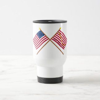 Crossed Betsy Ross Flag and First Navy Jack Coffee Mug