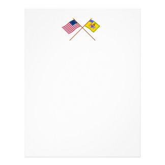 Crossed Betsy Ross Flag & Phila Light Horse Colour Letterhead