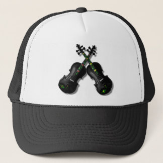 CROSSED BLACK VIOLINS-HAT TRUCKER HAT
