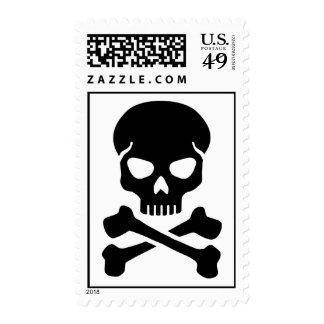 Crossed bones skull postage