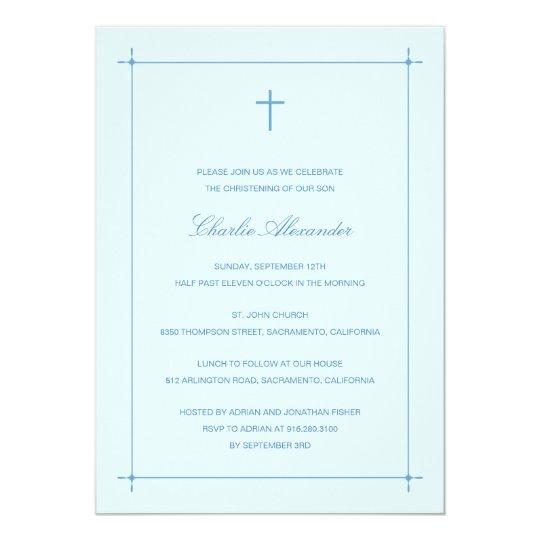 Crossed Border Baptism/Christening Invitation