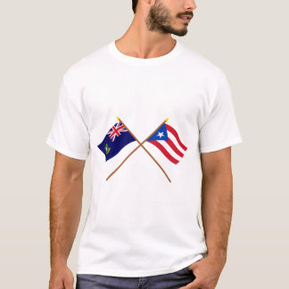 Crossed British Virgin Islands & Puerto Rico Flags T-Shirt