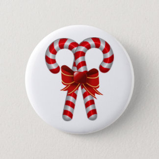 Crossed Candy Canes Button