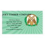 Crossed Chainsaw Timber Wood Leaf Pack Of Standard Business Cards