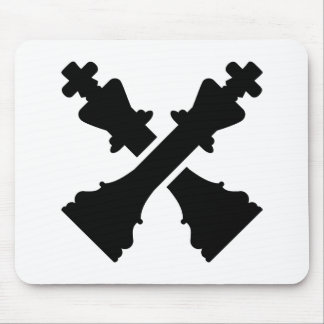 Crossed chess king mousepads