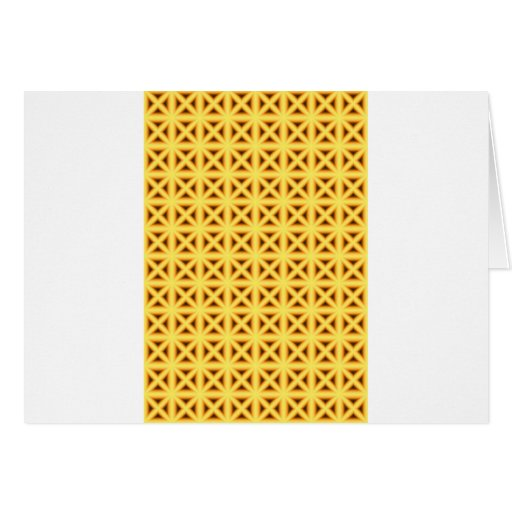 Crossed Chex Greeting Card