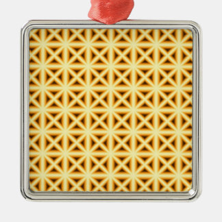 Crossed Chex Metal Ornament