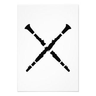 Crossed Clarinets Custom Invite