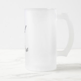 Crossed Clubs Frosted Glass Beer Mug