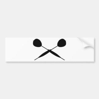 Crossed Darts Bumper Sticker