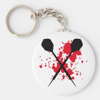 crossed darts icon keychain