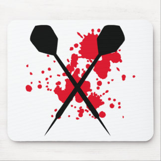 crossed darts icon mouse pad