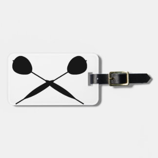 Crossed Darts Luggage Tag