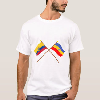 Crossed Ecuador and Cañar flags T-Shirt