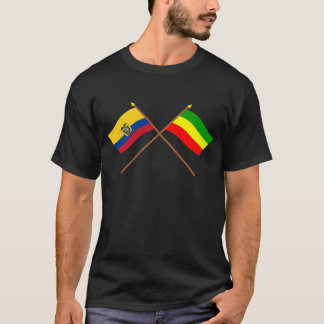 Crossed Ecuador and Carchi flags T-Shirt