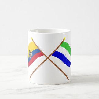 Crossed Ecuador and Galápagos flags Coffee Mug