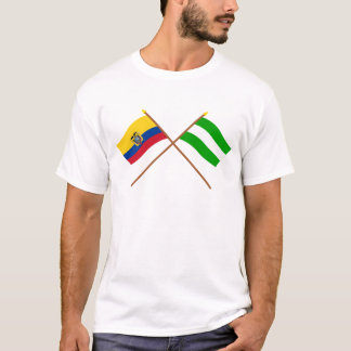 Crossed Ecuador and Los Ríos flags T-Shirt