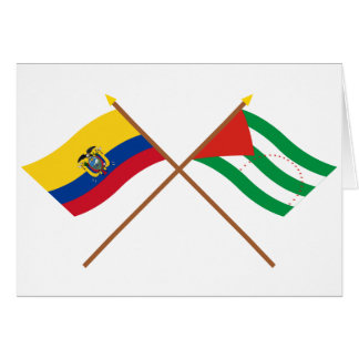 Crossed Ecuador and Manabí flags Card