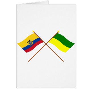 Crossed Ecuador and Morona-Santiago flags Greeting Card