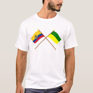 Crossed Ecuador and Morona-Santiago flags T-Shirt