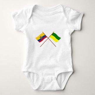 Crossed Ecuador and Morona-Santiago flags Tshirt