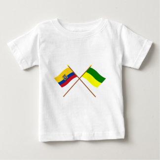 Crossed Ecuador and Morona-Santiago flags T Shirts