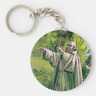 Crossed father keychain