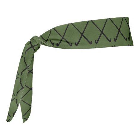Crossed Field Hockey Sticks Patterned Tie Headband