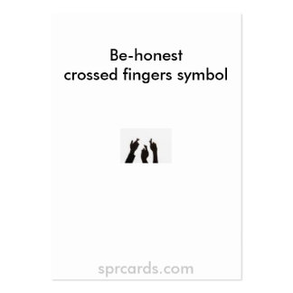 crossed fingers, Be-honestcrossed fingers symbo... Large Business Cards (Pack Of 100)