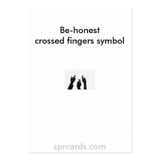 crossed fingers, Be-honestcrossed fingers symbo... Large Business Card