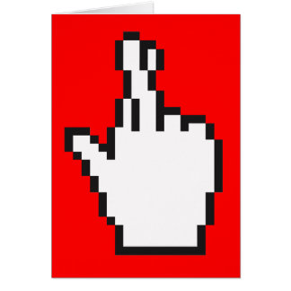Crossed Fingers Cursor Greeting Cards
