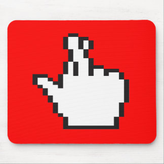 Crossed Fingers Cursor Mouse Pad