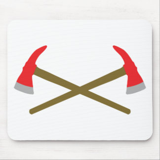 crossed firefighter axe mouse pad