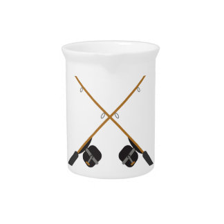 CROSSED FISHING RODS BEVERAGE PITCHERS