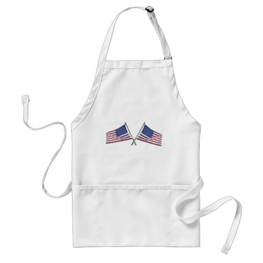 Crossed Flags Aprons