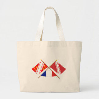 Crossed flags of Alsace and Bas-Rhin Tote Bag