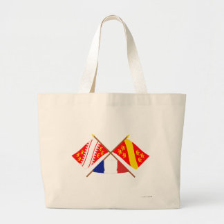 Crossed flags of Alsace and Haut-Rhin Canvas Bag