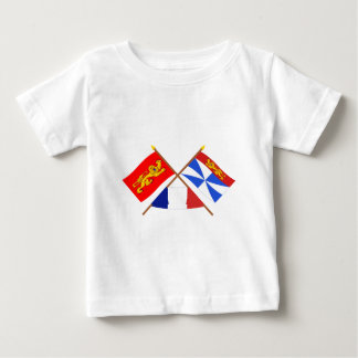 Crossed flags of Aquitaine and Gironde Baby T-Shirt