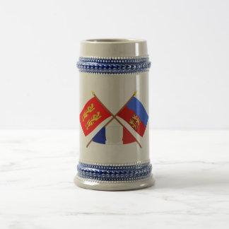Crossed flags of Basse-Normandie and Calvados Mug