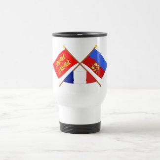 Crossed flags of Basse-Normandie and Calvados Mugs