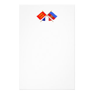 Crossed flags of Basse-Normandie and Calvados Stationery