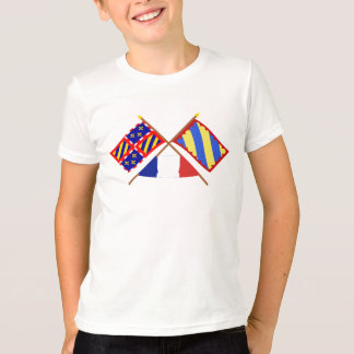 Crossed flags of Bourgogne and Nièvre T-Shirt