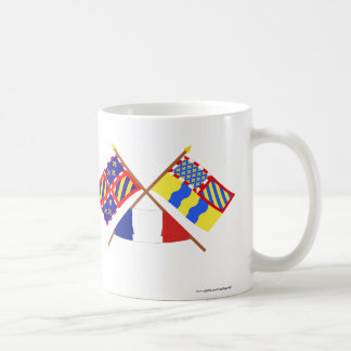 Crossed flags of Bourgogne and Saône-et-Loire Classic White Coffee Mug
