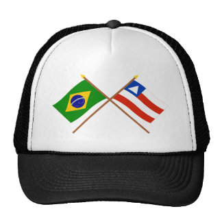 Crossed Flags of Brazil and Bahia Trucker Hat