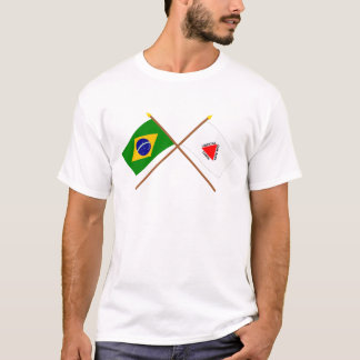Crossed Flags of Brazil and Minas Gerais T-Shirt