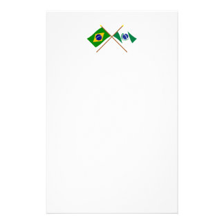 Crossed Flags of Brazil and Paraná Stationery